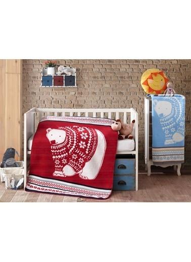 Komfort Home Kids Pamuklu Bebek Battaniyesi 100x120 CM (Mavi) Mavi
